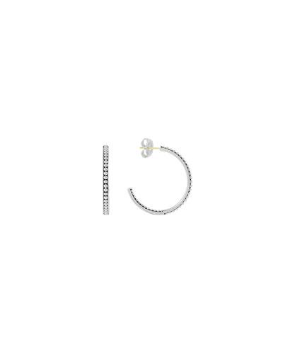 35mm Bead-Lined Hoop Earrings
