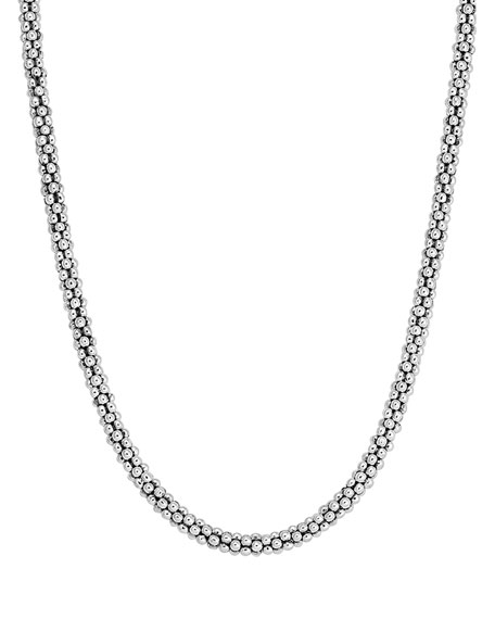 """Lagos 4mm Sterling Silver Rope Necklace, 18""""L"""