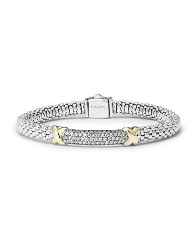 6mm Large Pavé Diamond Rope Caviar Bracelet