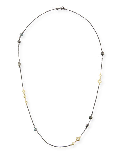 Old World Scroll Keshi Pearl Necklace, 36