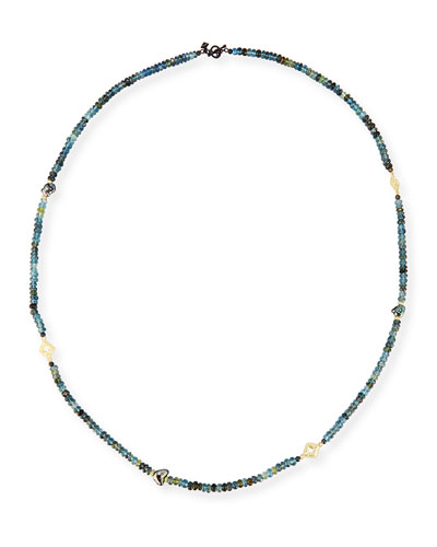 Old World Beaded Aquamarine & Keshi Pearl Necklace, 34