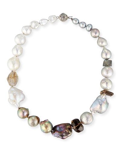 Baroque Pearl & Smoky Quartz Necklace
