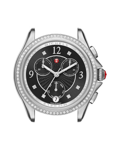 37mm Belmore Watch Head with Diamonds, Black