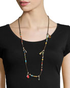 Suede Tassels Necklace, Multi