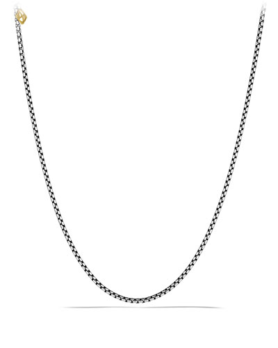Sterling Silver Box Chain Necklace, 20