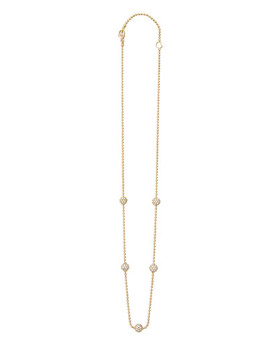 18K Pavé Diamond Five-Station Necklace