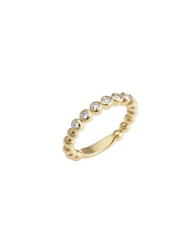 Covet 18K 3mm Diamond Stacking Ring