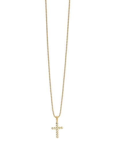 Covet 18K Diamond Cross Pendant Necklace
