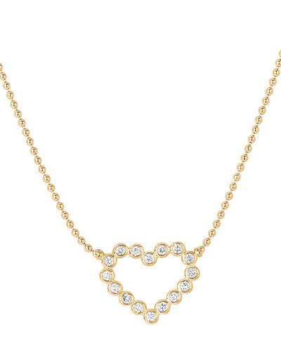 Covet 18K Diamond Heart Pendant Necklace