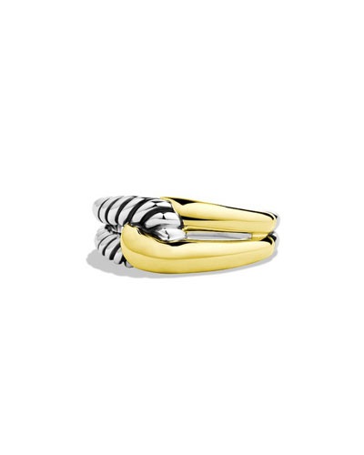 Labyrinth Sterling Silver & 18K Ring