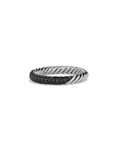 Petite Pavé Ring with Black Diamonds