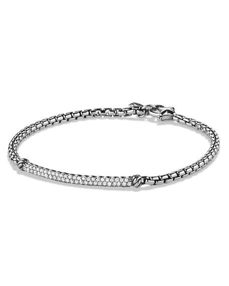 David Yurman Metro Pave Diamond Bar Bracelet