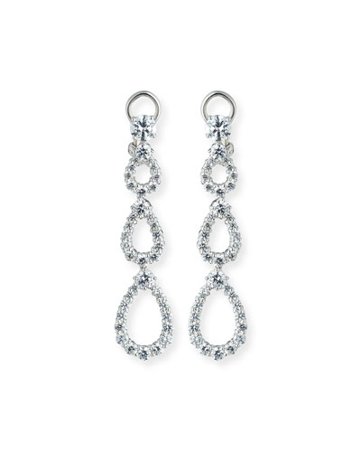 Three-Tier Open CZ Crystal Drop Earrings