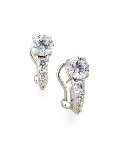 Fantasia Tapered CZ Crystal Earrings HxXdCFpH