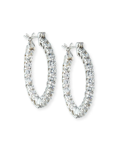 CZ Crystal Infinity Hoop Earrings