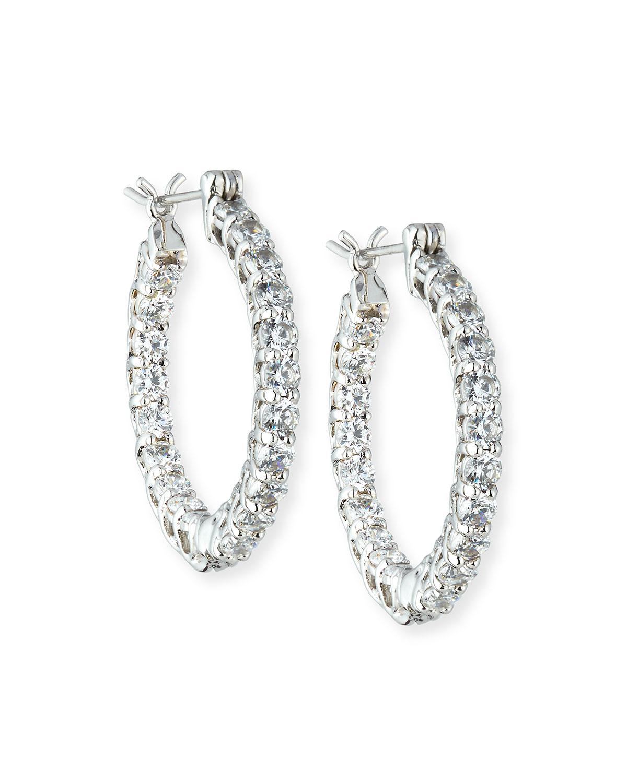CZ Crystal Infinity Hoop Earrings