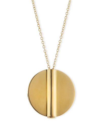 Tate Round Pendant Necklace, Gold