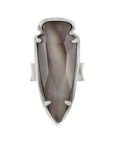 Kenny Arrowhead Ring, Gray