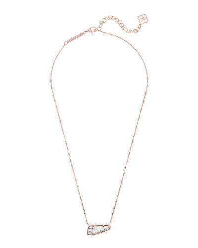 Etta Pendant Necklace, Granite