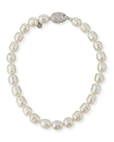 14mm Baroque Simulated Pearl Necklace, 18