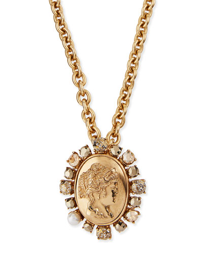 Bold Cameo Pendant Necklace