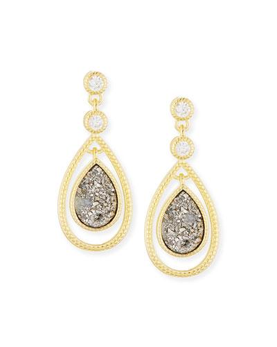 Manon Teardrop Druzy Earrings