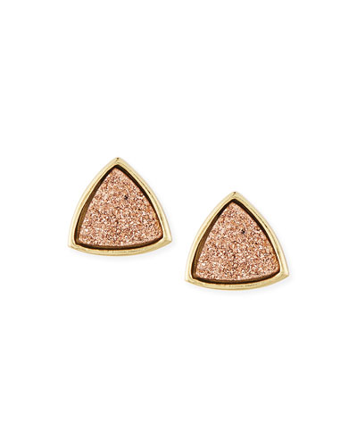 Nanette Triangle Earrings, Rose Gold
