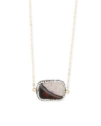 Cantenbury Pave Agate Necklace