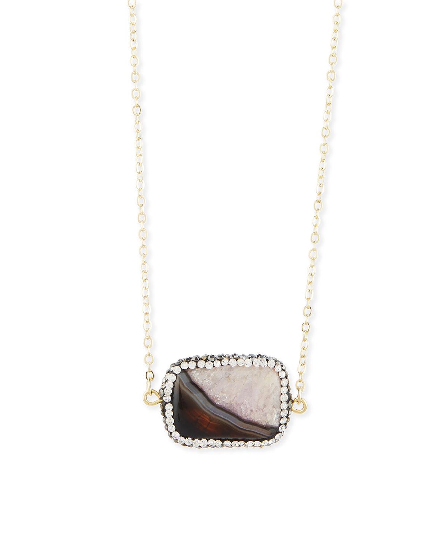 Cantenbury Pave Agate Necklace
