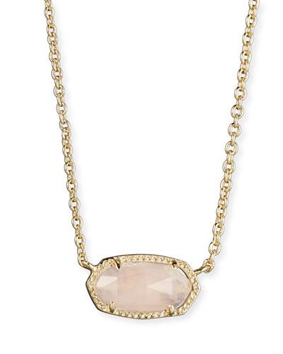 Elisa Rose Quartz Necklace