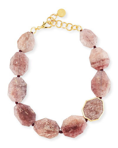 Mulberry Quartz Statement Necklace