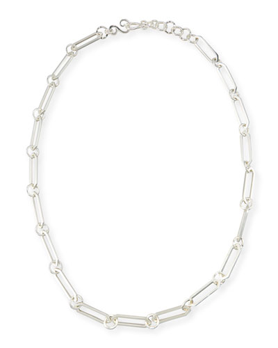 Courtly Chain Link Necklace, Silver, 36