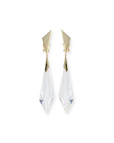 Faceted Dangle Drop Earrings