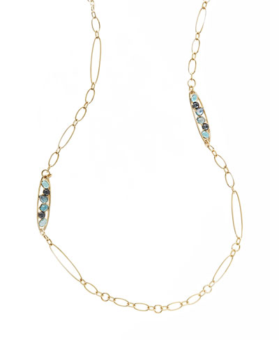 18K Rock Candy® Station Necklace, 36