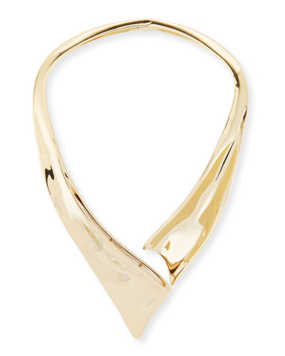 Liquid Golden Collar Necklace