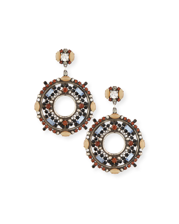 Estella Crystal Hoop Earrings