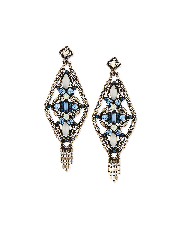 Aquarius Crystal Drop Earrings