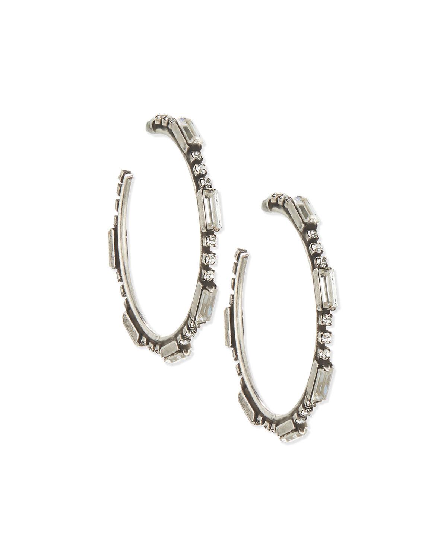 Lyra Crystal Hoop Earrings
