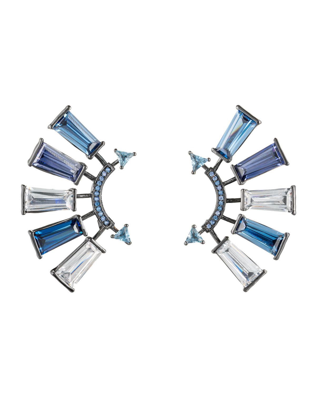 Apollo Crystal Climber Earrings