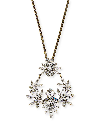 Amelia Crystal Pendant Necklace