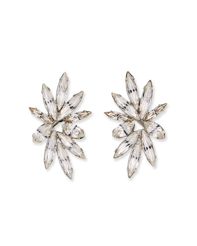 Harper Crystal Clip-On Earrings