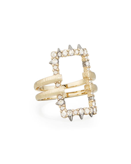 Alexis Bittar Crystal Oversized Link Ring