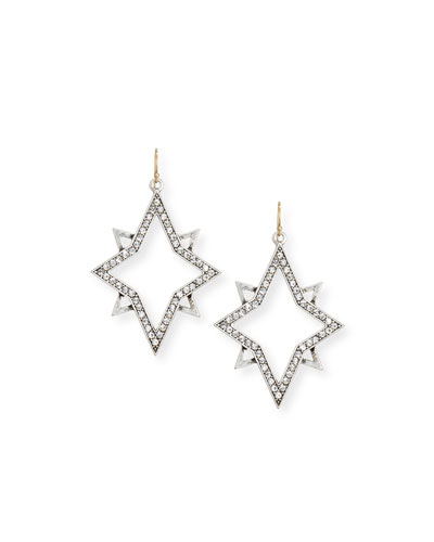 Nova Crystal Star Drop Earrings