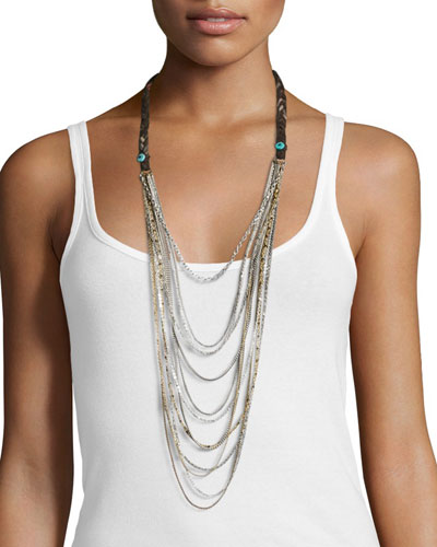 Tiered Long Necklace