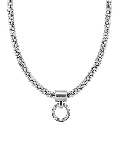 Enso Diamond Pendant Necklace, 16