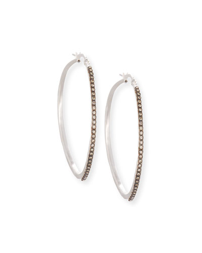 43mm Midnight New World Diamond Hoop Earrings