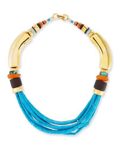 Blue Period Beaded Turquoise Necklace
