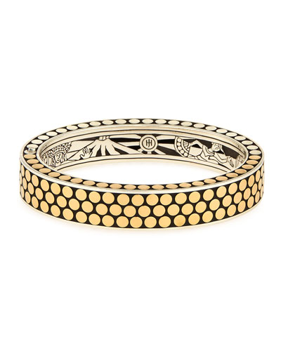 Dot 18K Rectangular Hinged Bangle