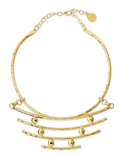 Hammered Bar Pendant Necklace