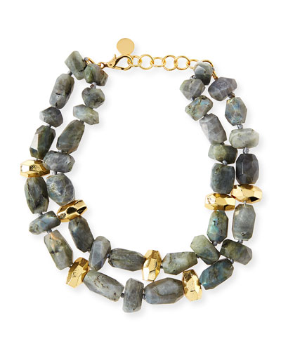 Two-Strand Labradorite Necklace